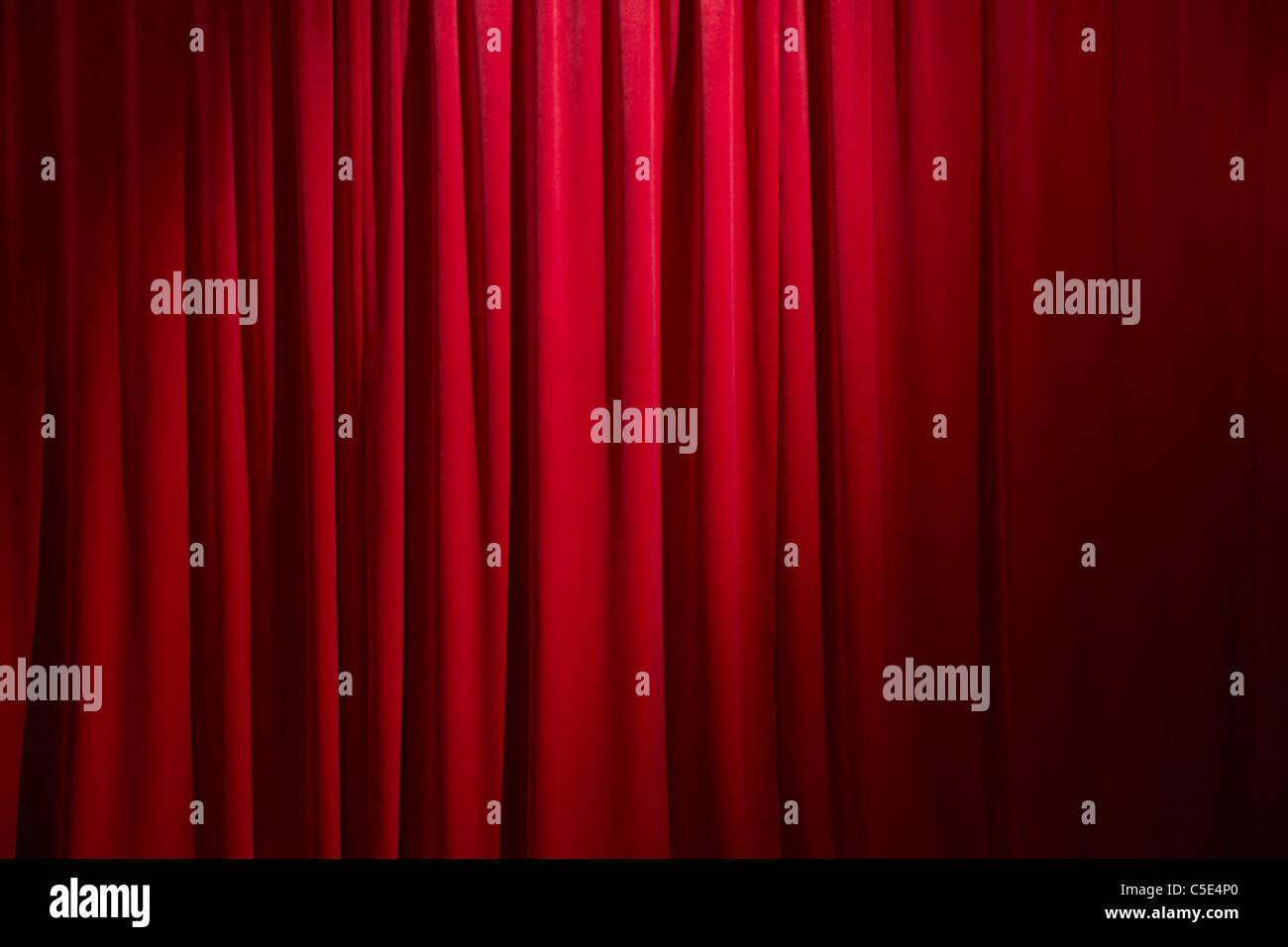 Background of a red curtain - Stock Image