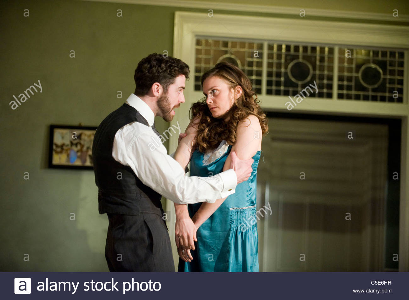 A Woman Killed With Kindness by Thomas Heywood, directed by Katie Mitchell - Stock Image