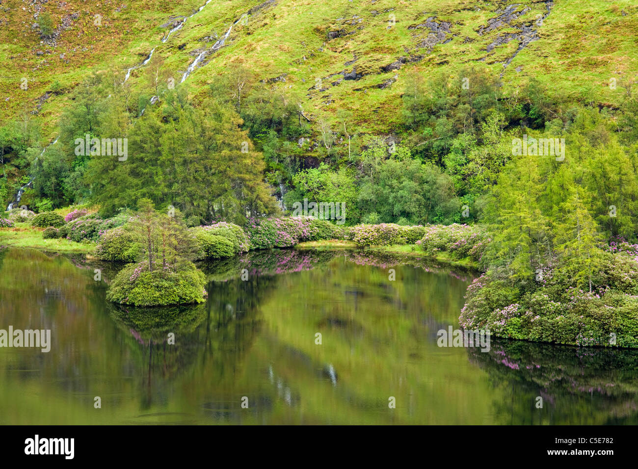 Lochan Urr, Glen Etive, Highland, Scotland, UK - Stock Image