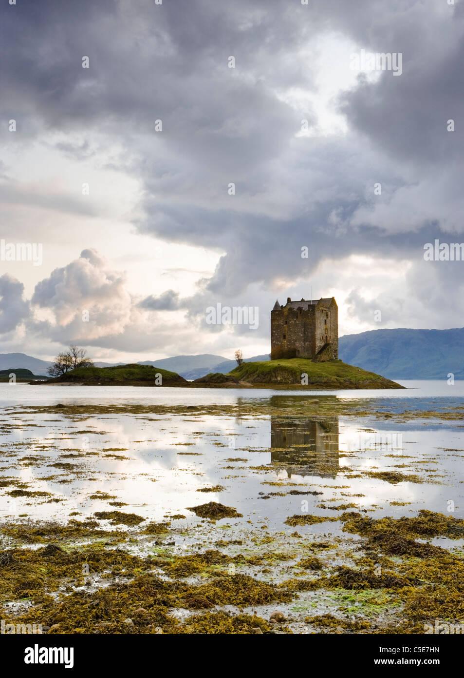 Castle Stalker, Argyll, Scotland, UK - Stock Image