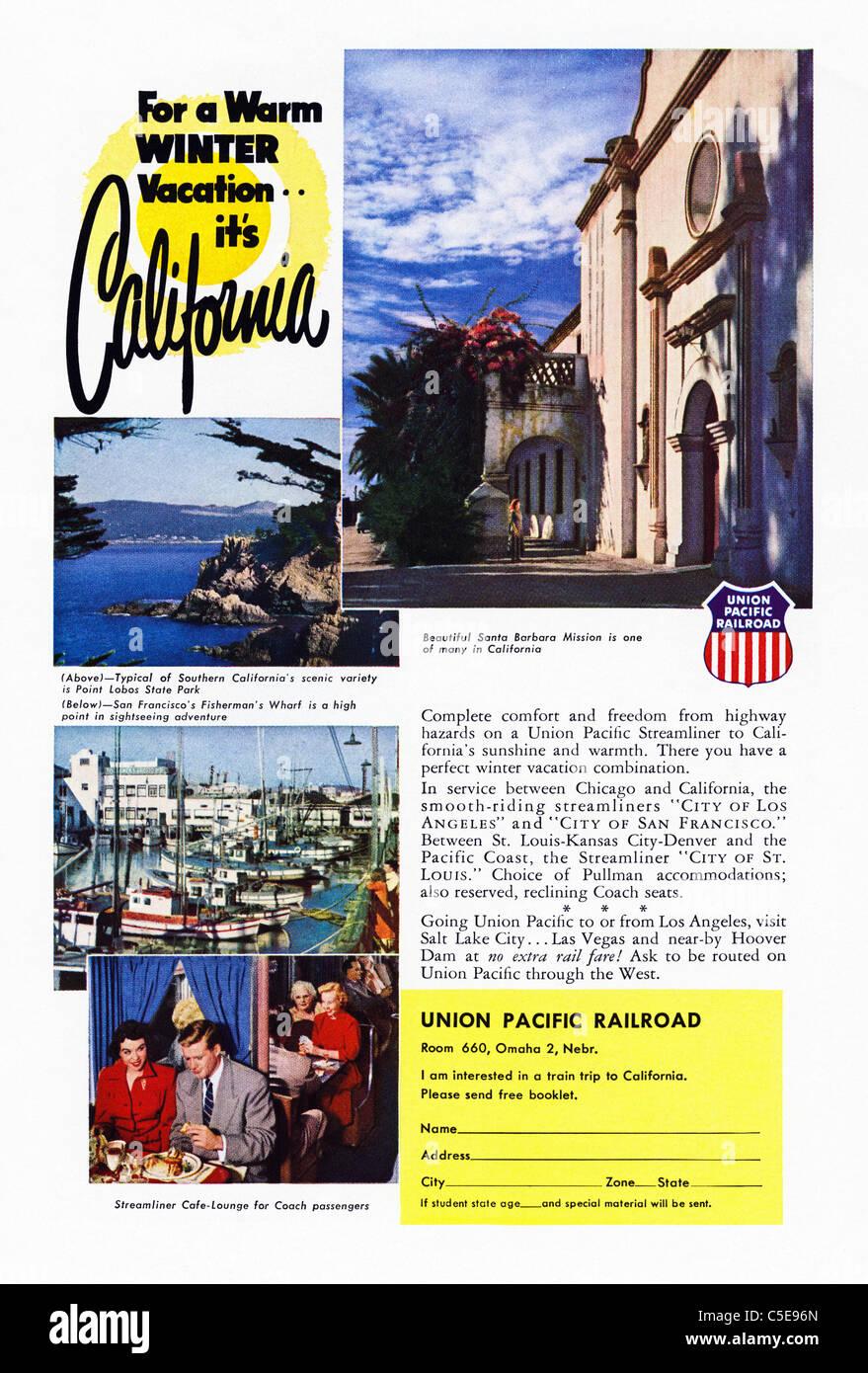 Original 1950s advert in American magazine advertising