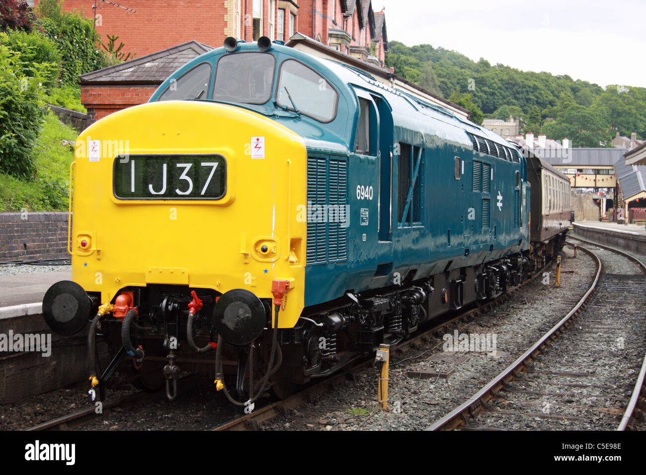 6940 (37240) at Llangollen during the recent '60's weekend' ...