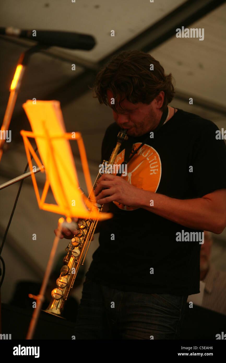 Stekpanna Nucleus. Marlborough Jazz Festival 2011 - Stock Image