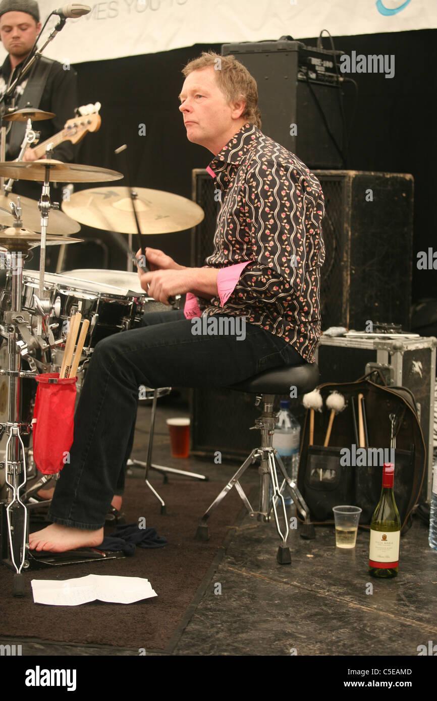 Chris Jagger & The Atcha Band. Marlborough Jazz Festival 2011 - Stock Image