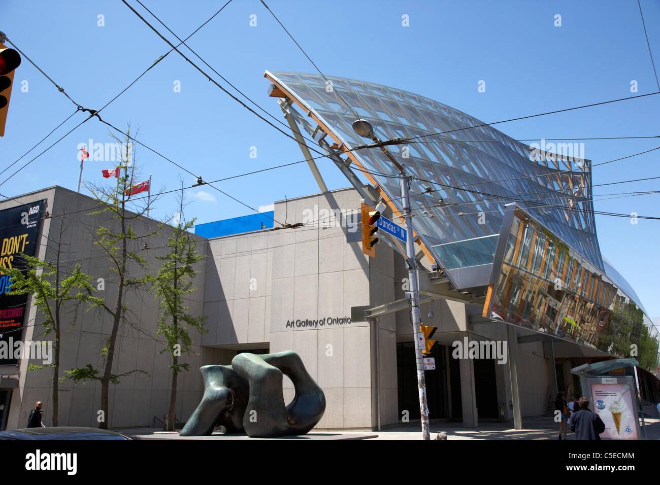ago the art gallery of ontario with frank gehry facade in toronto ontario canada - Stock Image