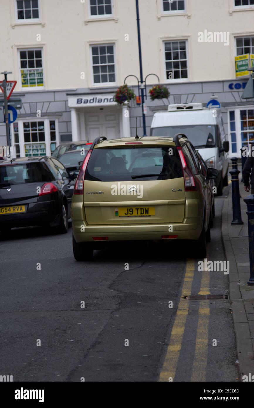 Traffic i Aberystwyth - Stock Image
