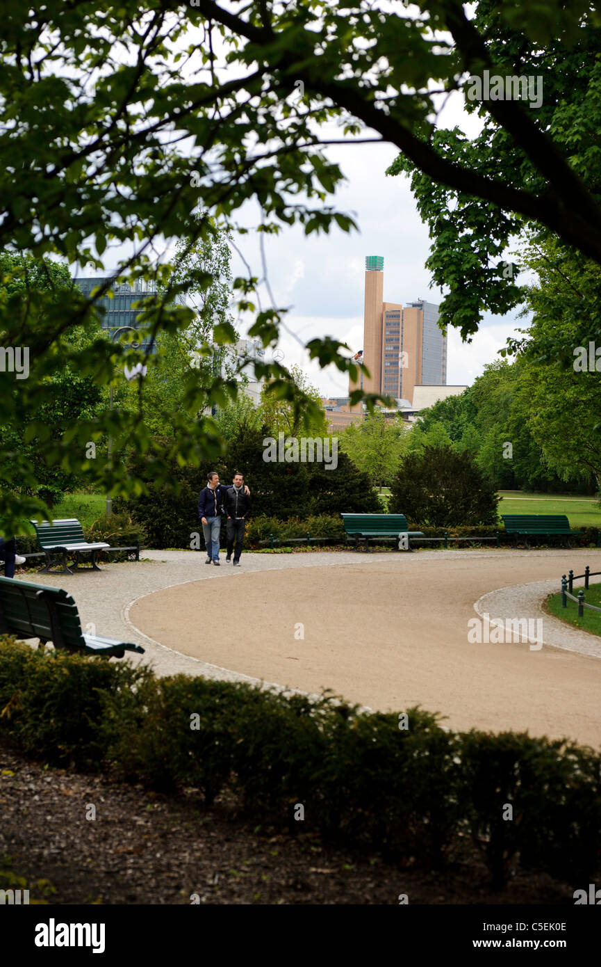 Two man in park - Stock Image