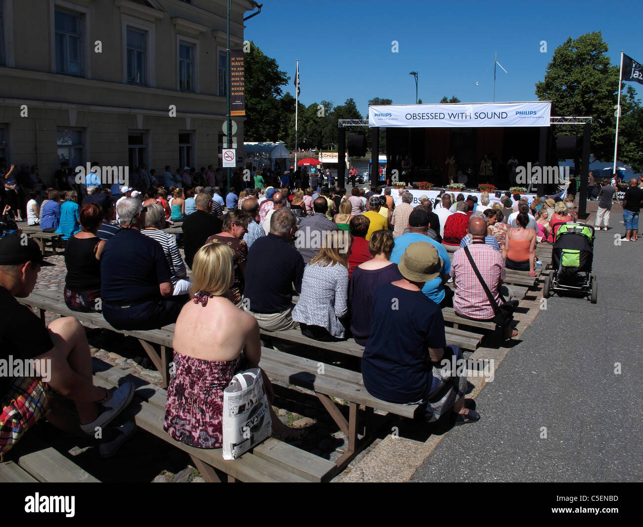 Scandinavia Finland Pori Jazz festival Stock Photo