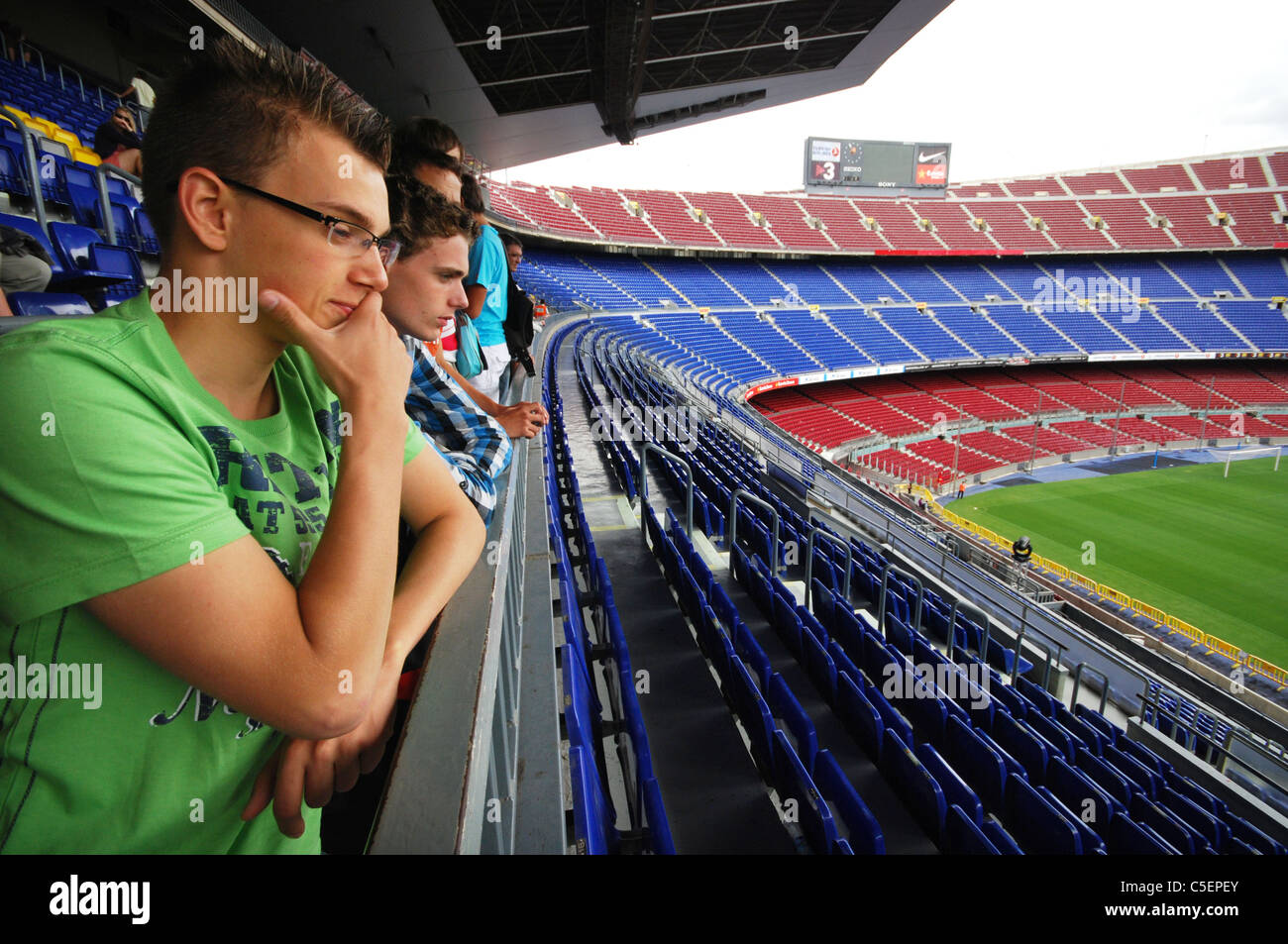Camp Nou,  Barcelona football stadium Spain Stock Photo