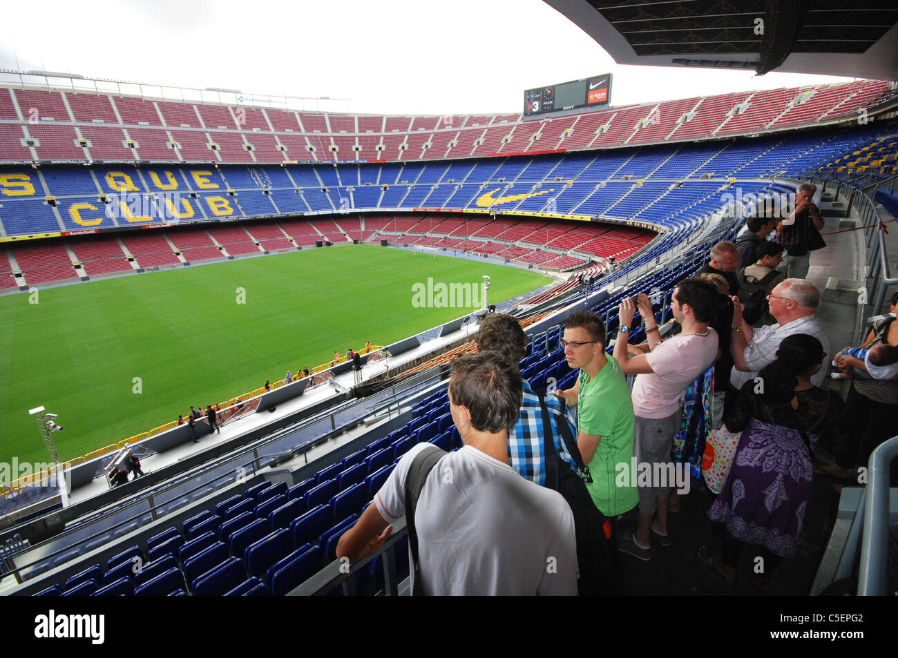 Camp Nou,  Barcelona football stadium Spain - Stock Image