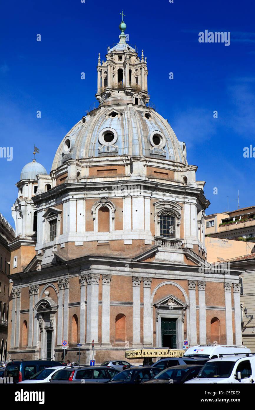 Church of S. Maria di Loreto (16th century), Rome, Italy - Stock Image