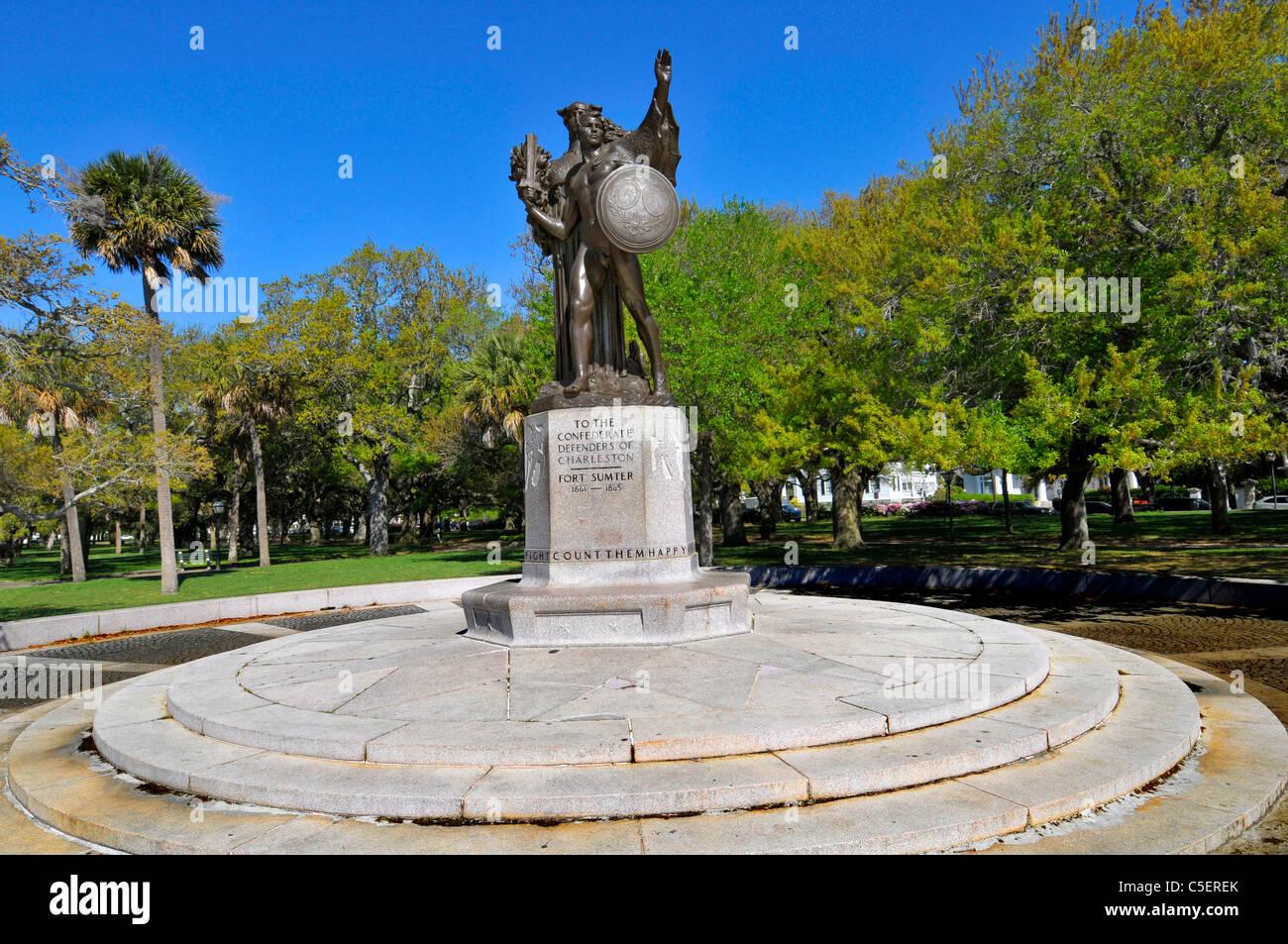 charleston south carolina confederate defenders fort sumter civil war american Commemorate Commemorative Enshrine - Stock Image
