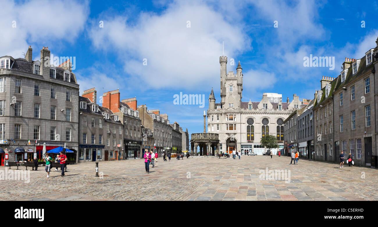 Castlegate in the city centre, Aberdeen, Scotland, UK - Stock Image