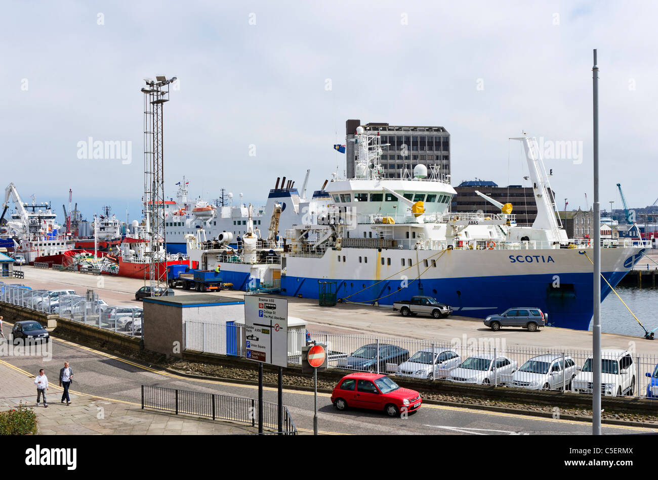 The Docks in Aberdeen, Scotland, UK - Stock Image
