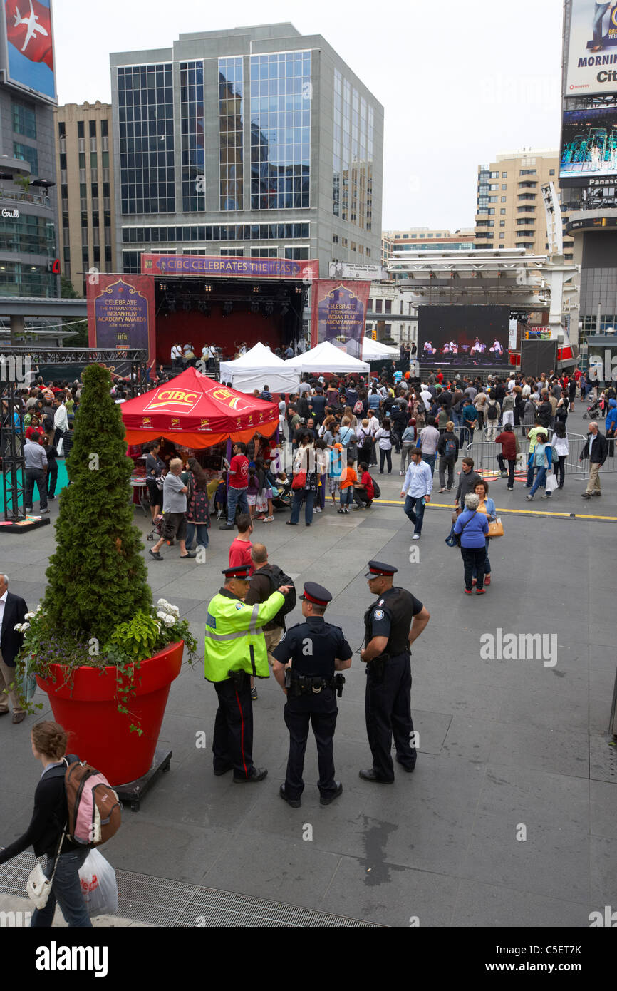 international indian film academy awards iifas event held in yonge dundas square toronto ontario canada - Stock Image