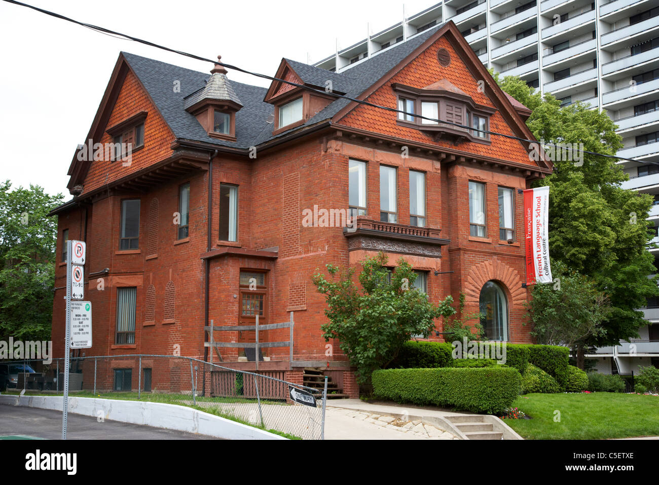 alliance francaise french language school and cultural centre toronto ontario canada - Stock Image