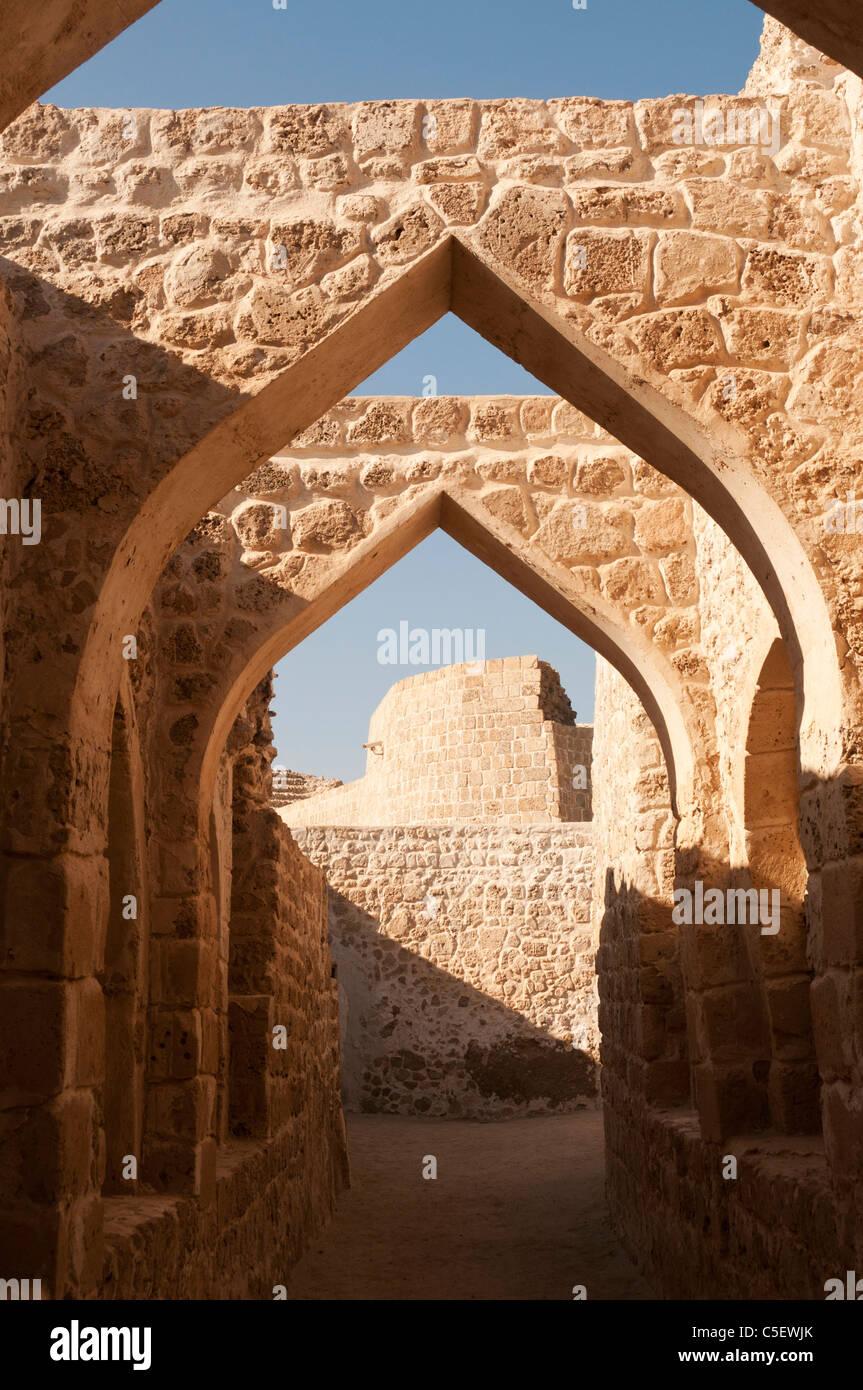 Elk204-1414v Bahrain, Bahrain Fort (Qala'at al Bahrain) 16th c, interior view - Stock Image