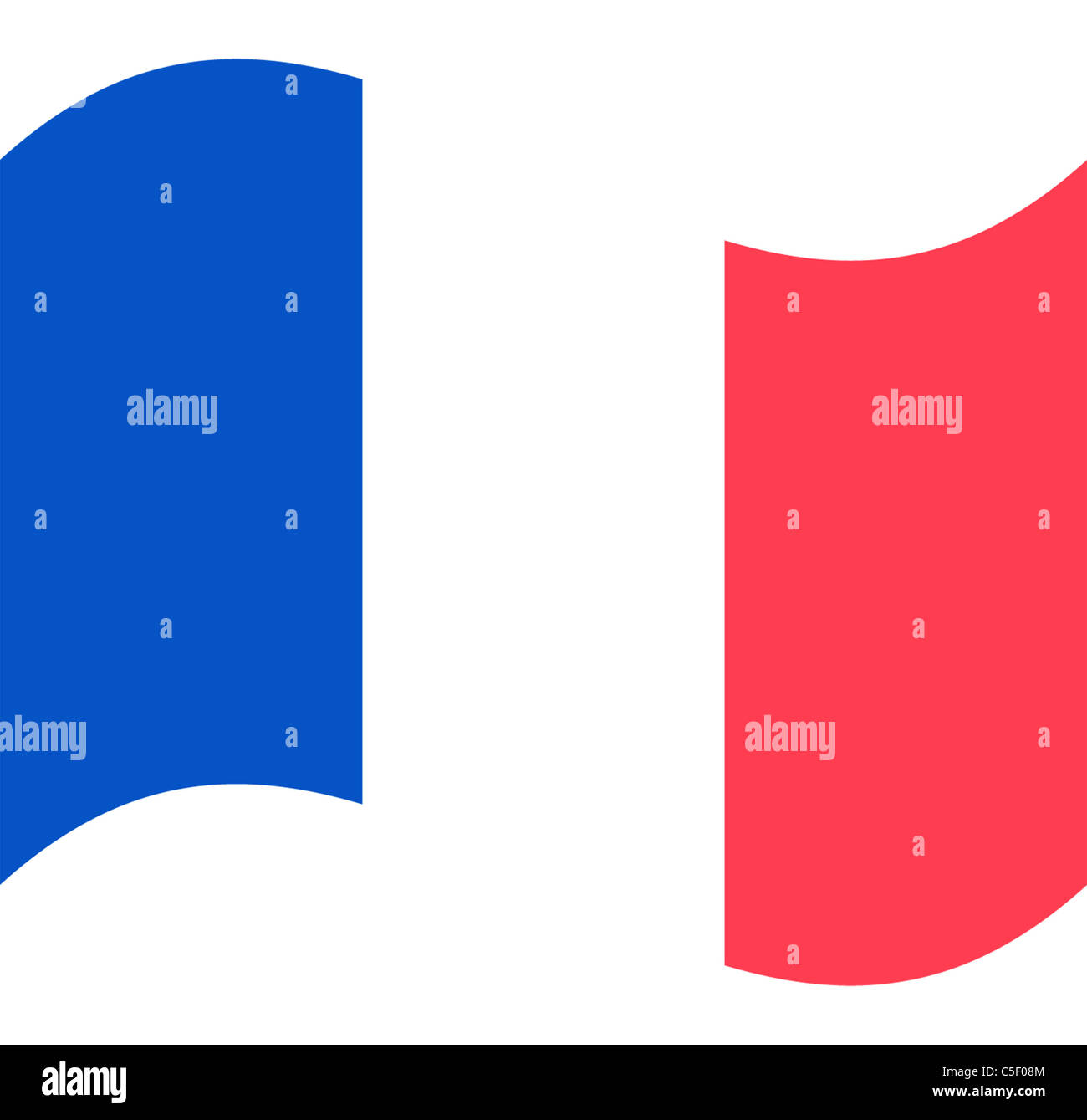 France flag illustration - exclusive to Alamy - Stock Image