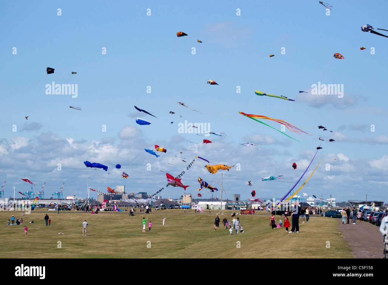 kites at the Wirral kite festival held at New Brighton 2011. - Stock Image