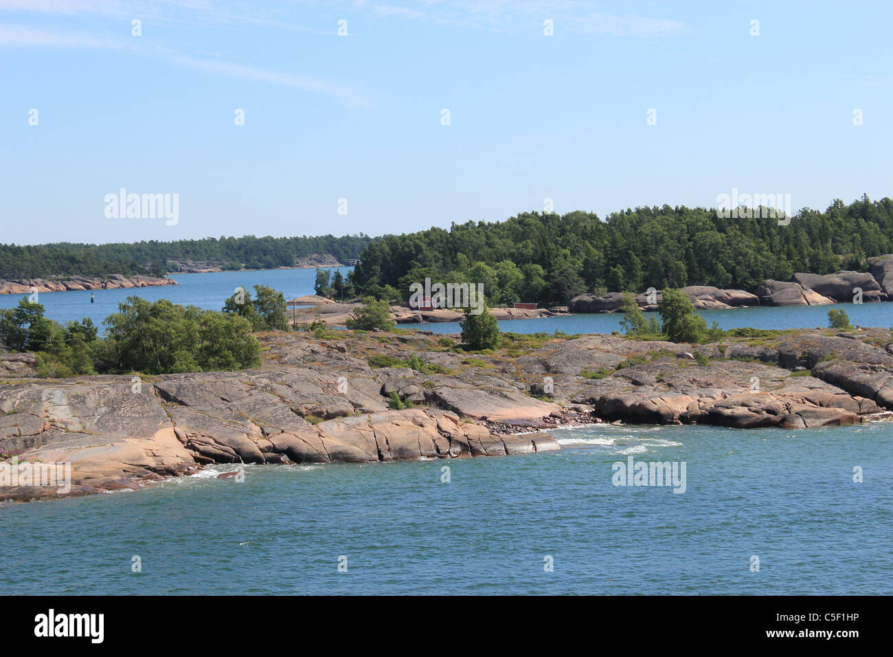 Archipelago of Åland (Ahvenanmaa ) The Åland Islands autonomous, demilitarised and is the only monolingually Swedish Stock Photo