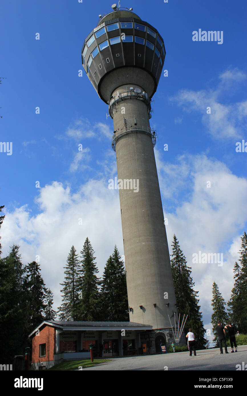 Puijo Tower Kuopio, Finland Stock Photo