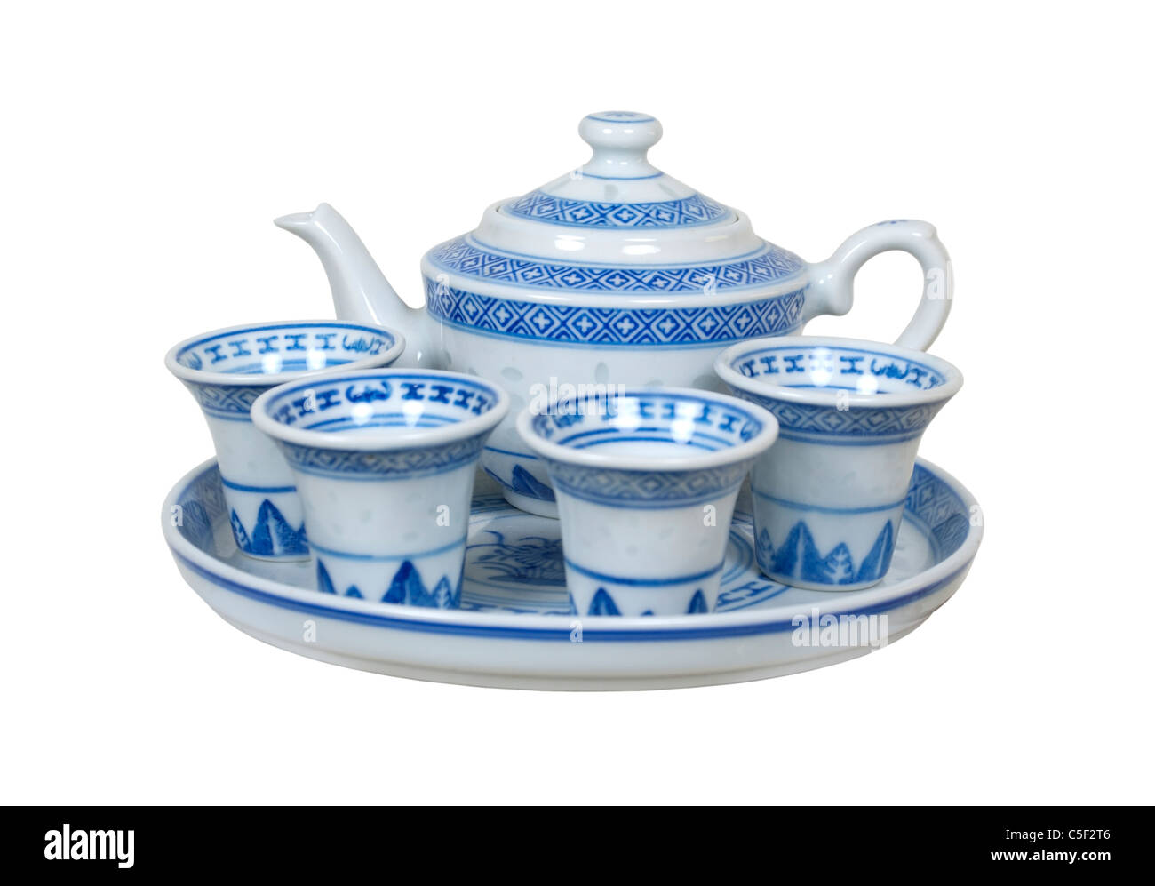 A tea set. What is included in the set for the tea ceremony 92