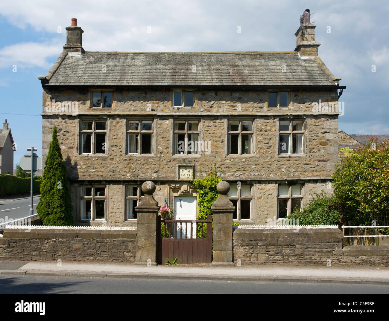 Slyne Hall (grade II listed building) in village of Slyne, near Morecambe, Lancashire, England UK - Stock Image