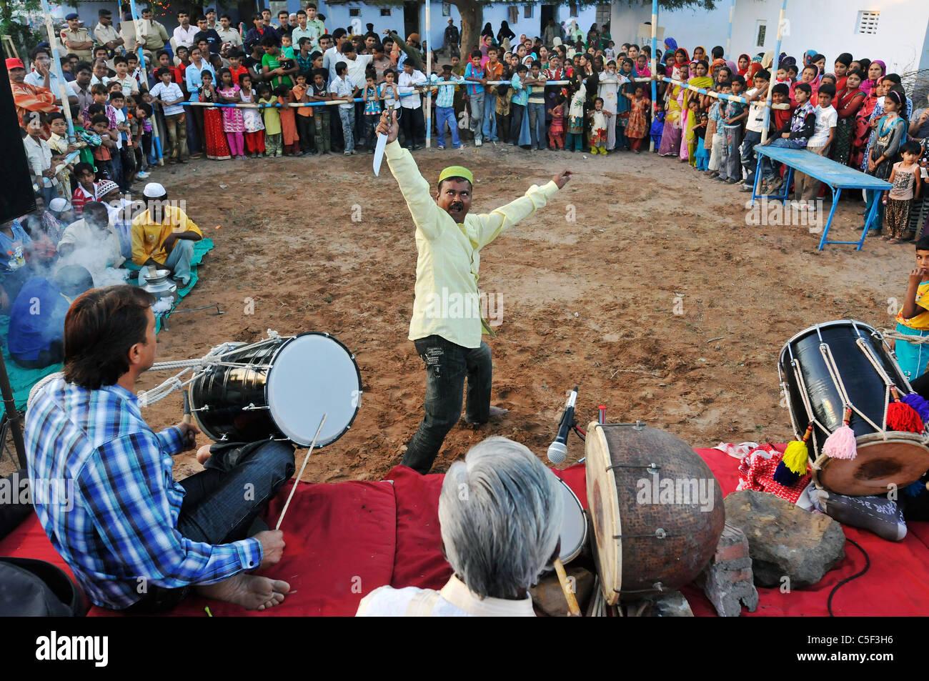 Sufi ritual in Bhuj, India - Stock Image