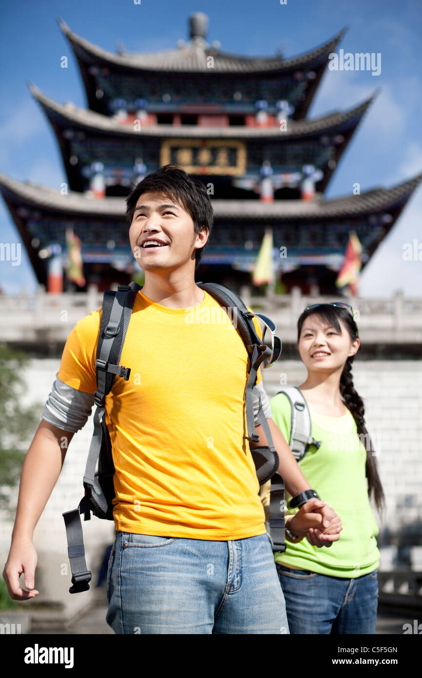 Young Couple Exploring Dali - Stock Image