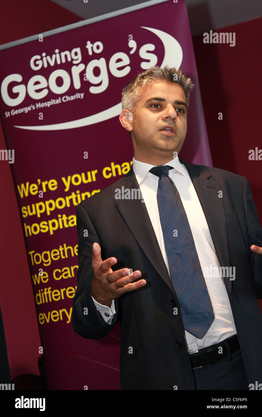 Sadiq Khan MP Labour. London Mayor 2016 - Stock Image