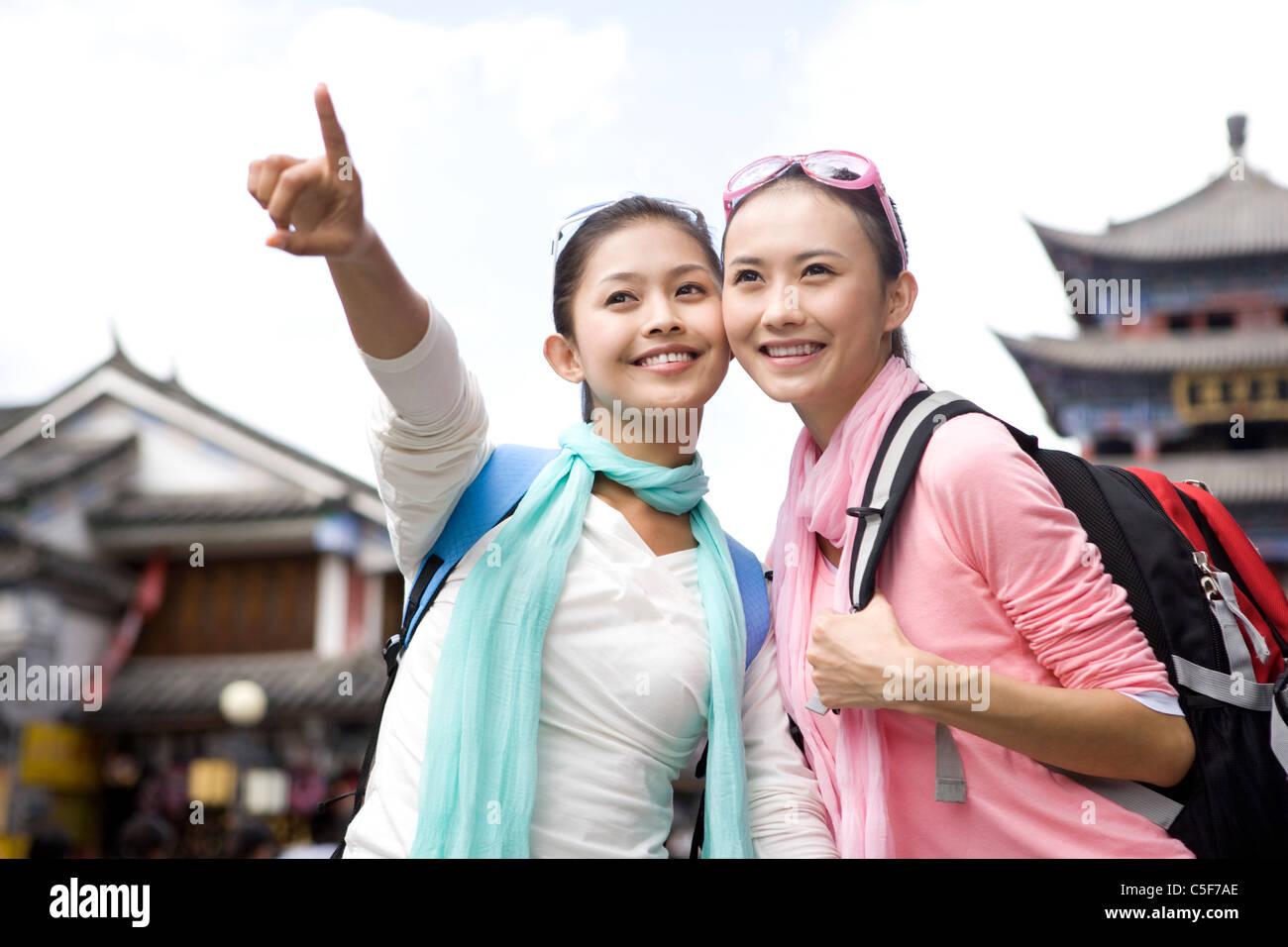 Two Friends Exploring Dali - Stock Image