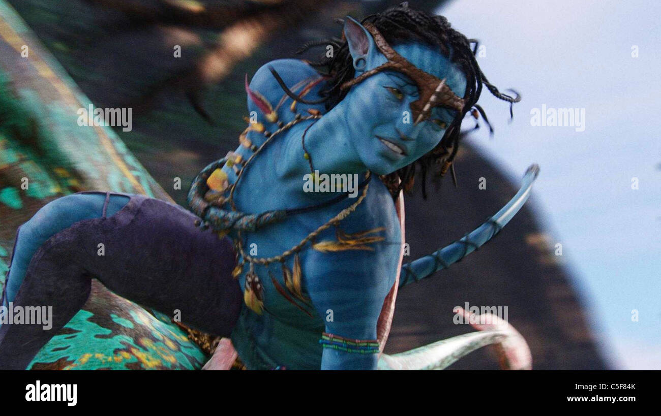 AVATAR 2009 TCF film with Zoe Saldana as Neyiri - Stock Image