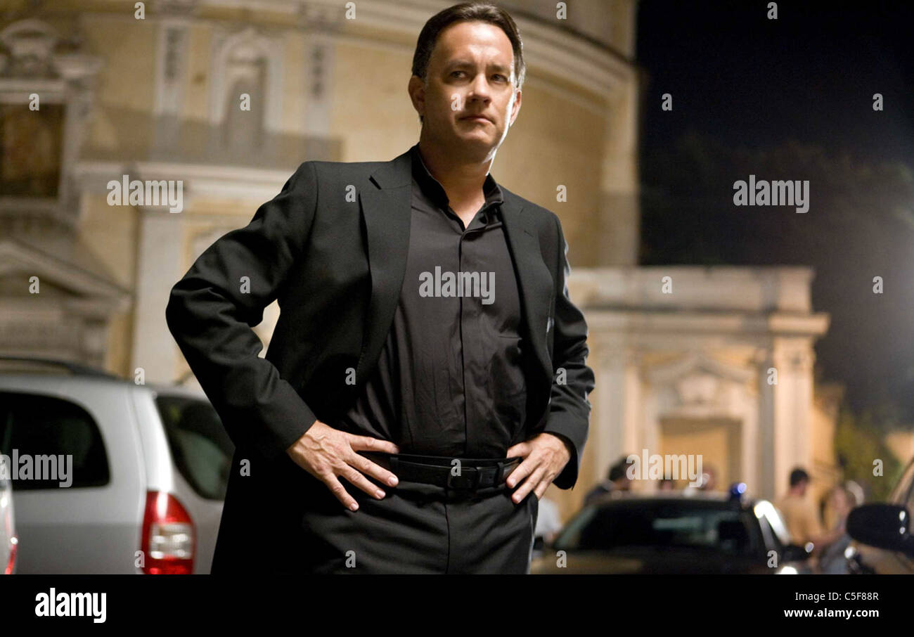 ANGELS AND DEMONS 2009 Columbia film with Tom Hanks - Stock Image