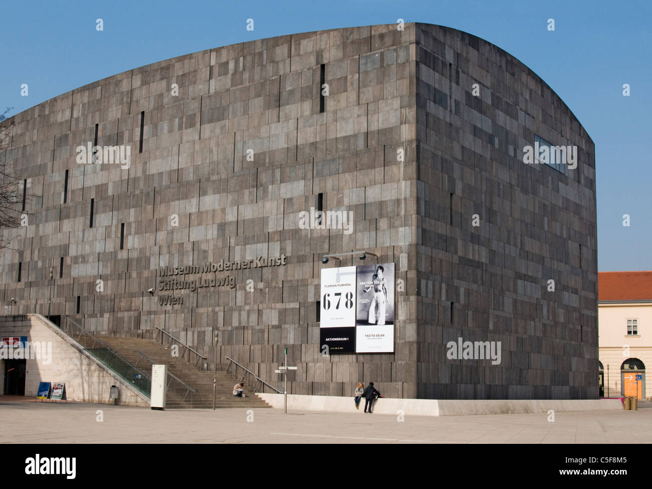 Building of MUMOK (Museum Moderner Kunst or Museum of Modern Art) at MuseumsQuartier in Vienna (Wien), Austria - Stock Image