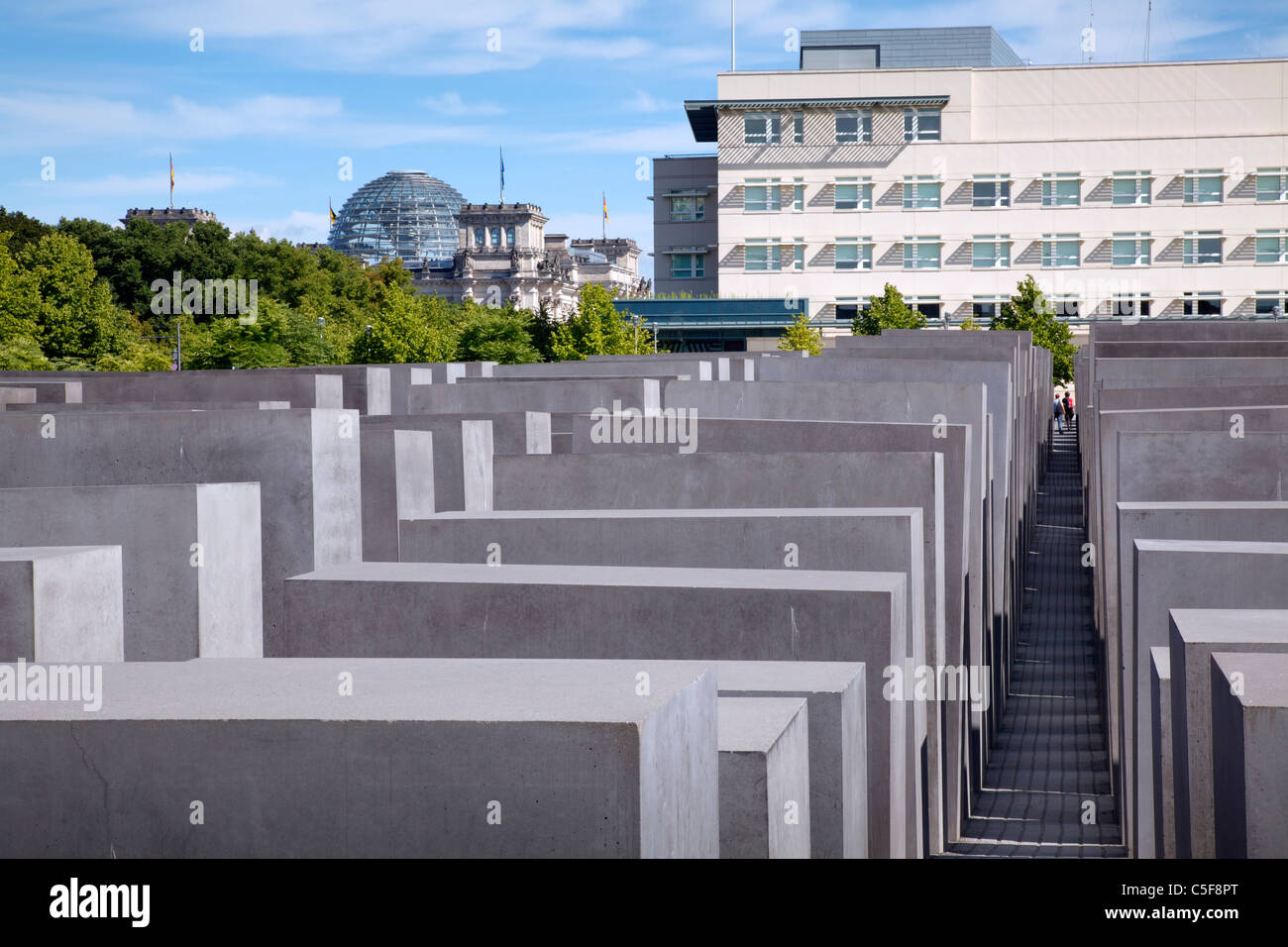 Memorial To The Murdered Jews Of Europe, Berlin, Germany - Stock Image