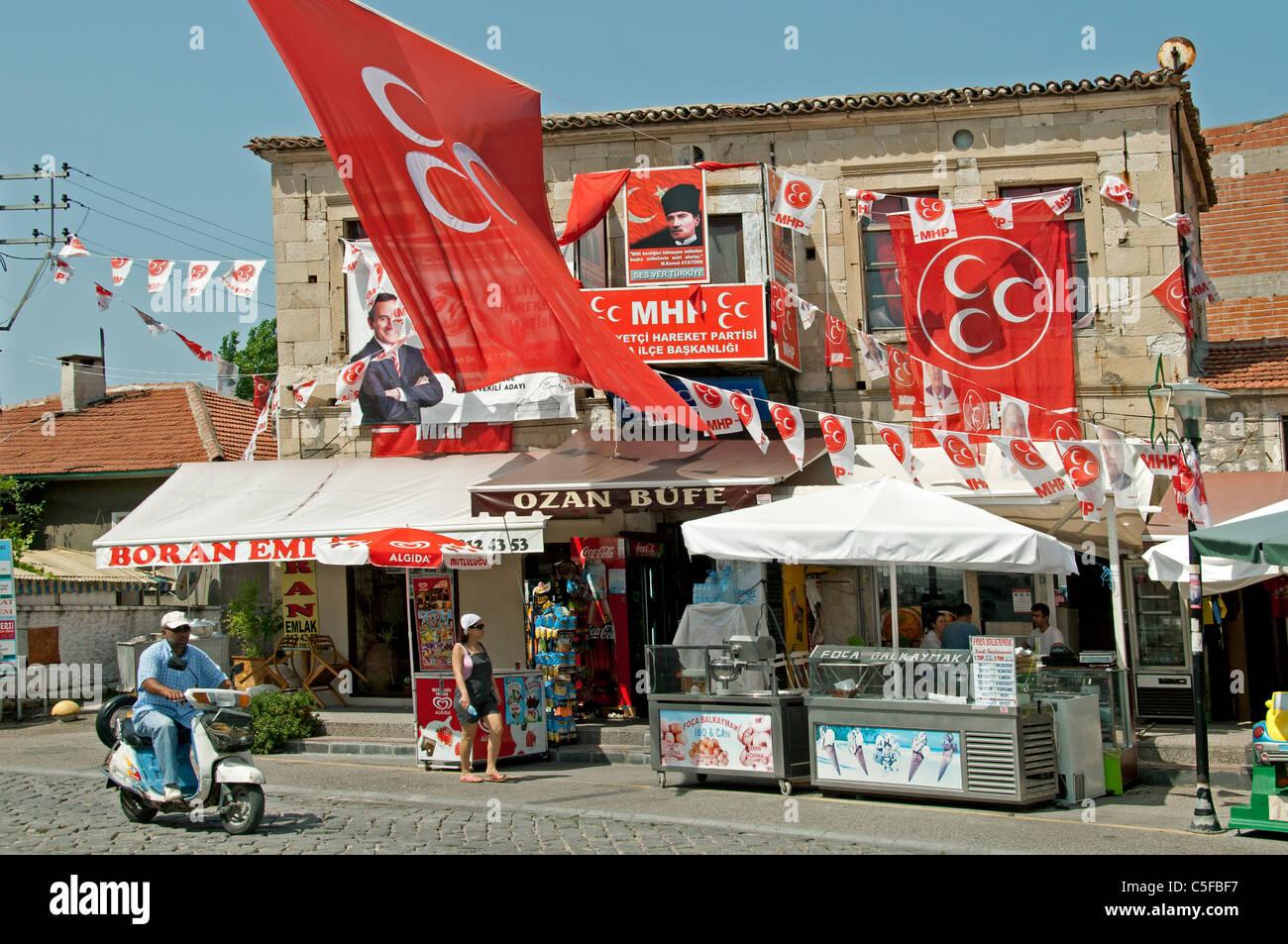 Foca poll polls Port Harbor Izmir Turkey restaurant - Stock Image