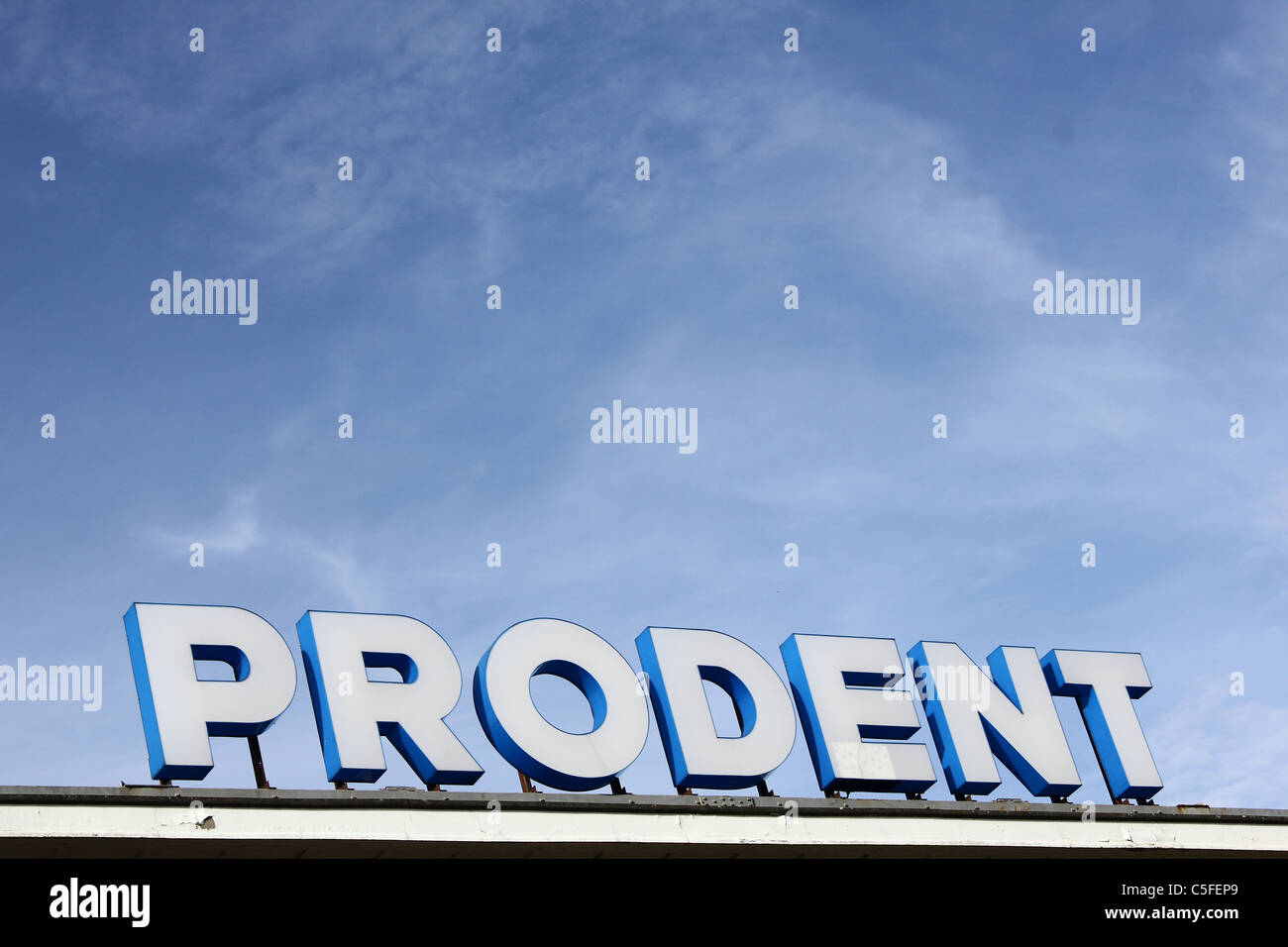 Prodent sign on the Prodent factory - Stock Image
