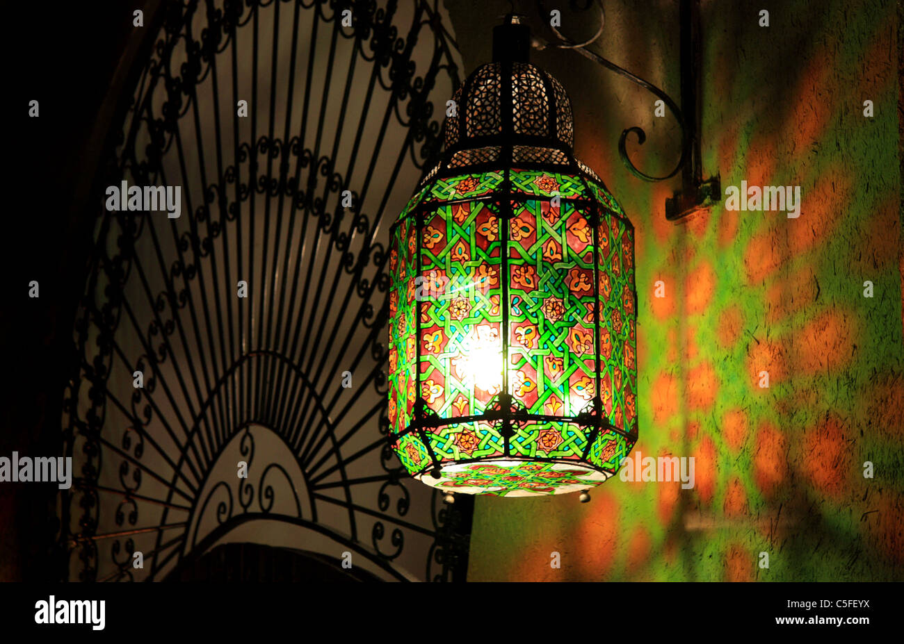 Green Glass Moroccan Lantern Gallery of Light
