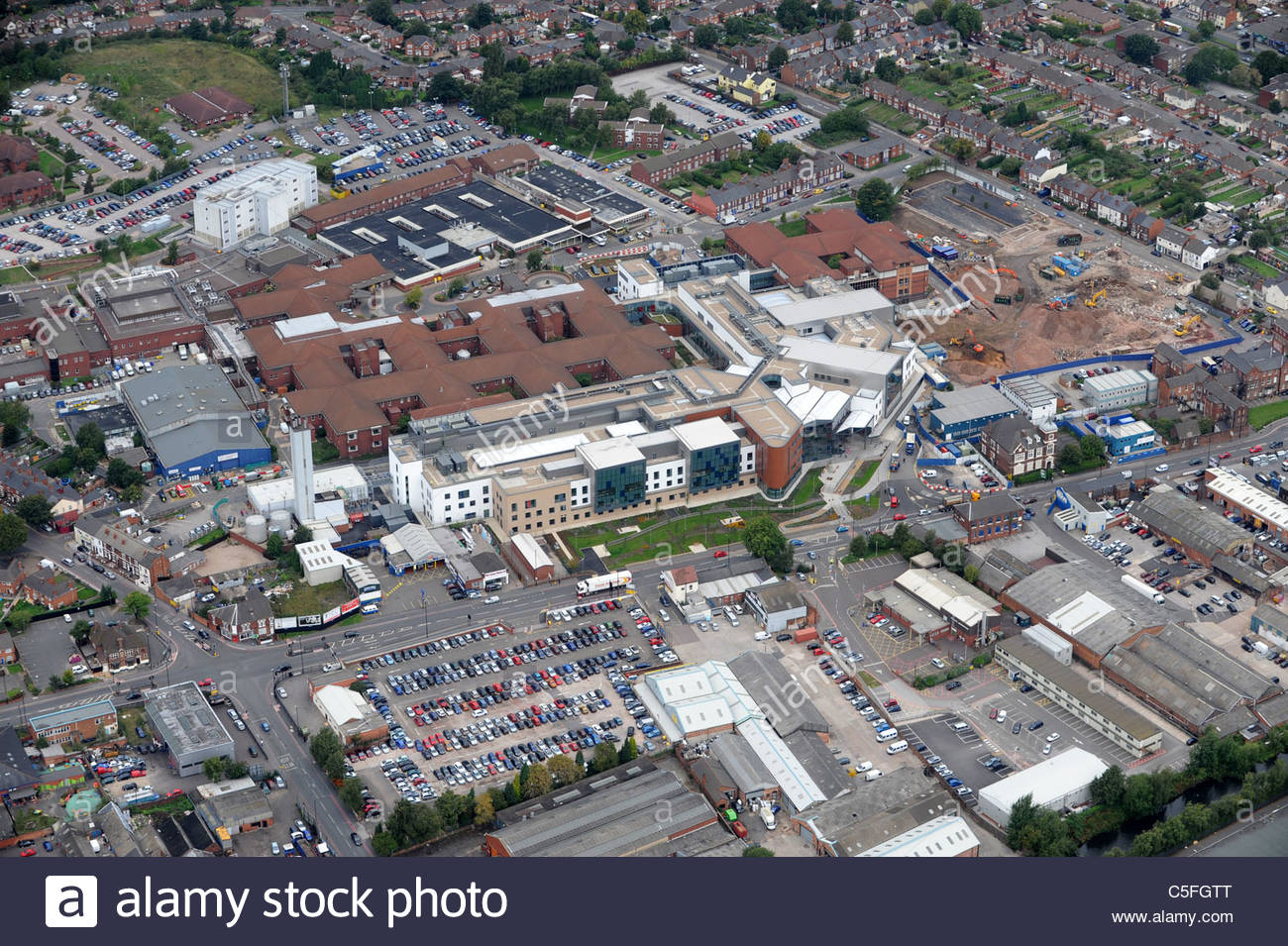 Aerial view of Sandwell General Hospital West Bromwich Sandwell Uk - Stock Image