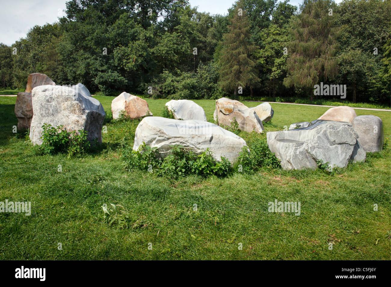 Global Stone Project, Tiergarten, Berlin, Germany - Stock Image