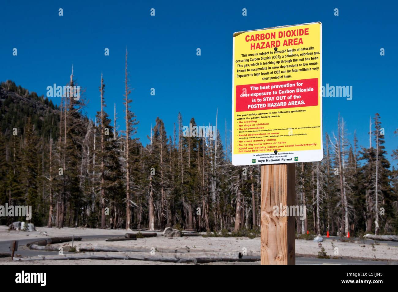 Carbon Dioxide hazard sign - Stock Image