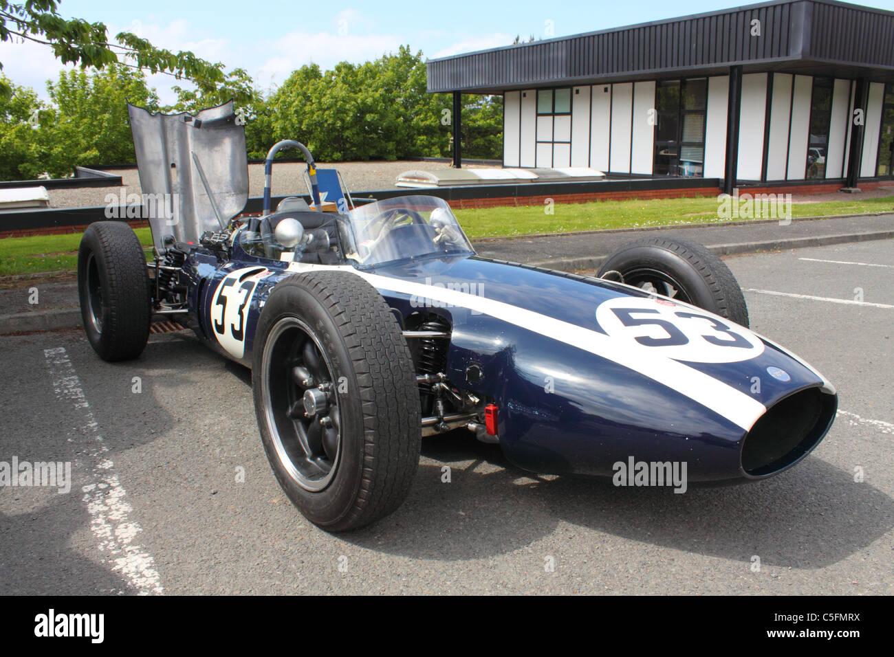 1961 Cooper T53 'lowline' Formula 1 race-car at the Cultra Hillclimb, Northern Ireland - Stock Image