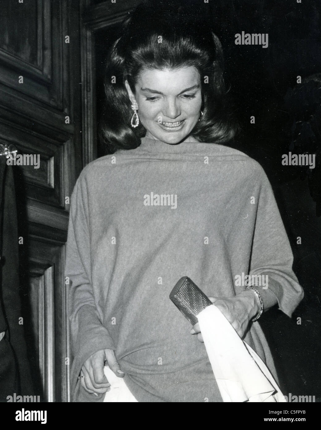 JACQUI KENNEDY ONASSIS (1929-1994) in Rome about 1970 - Stock Image