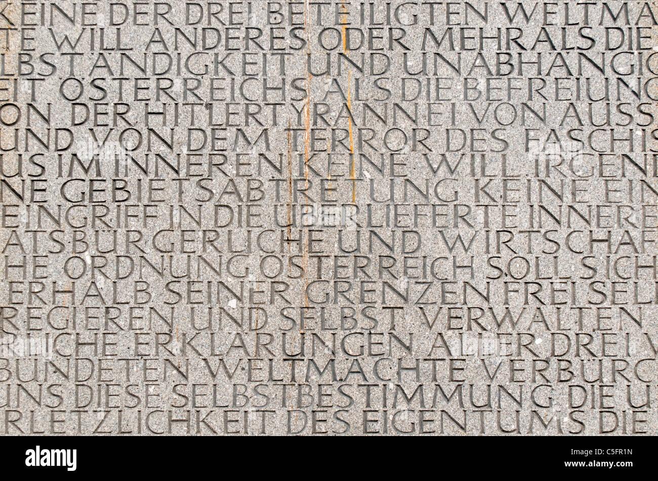 Monument against War and Fascism (Mahnmal gegen Krieg und Faschismus) by Alfred Hrdlicka, Albertinaplatz, Vienna Stock Photo