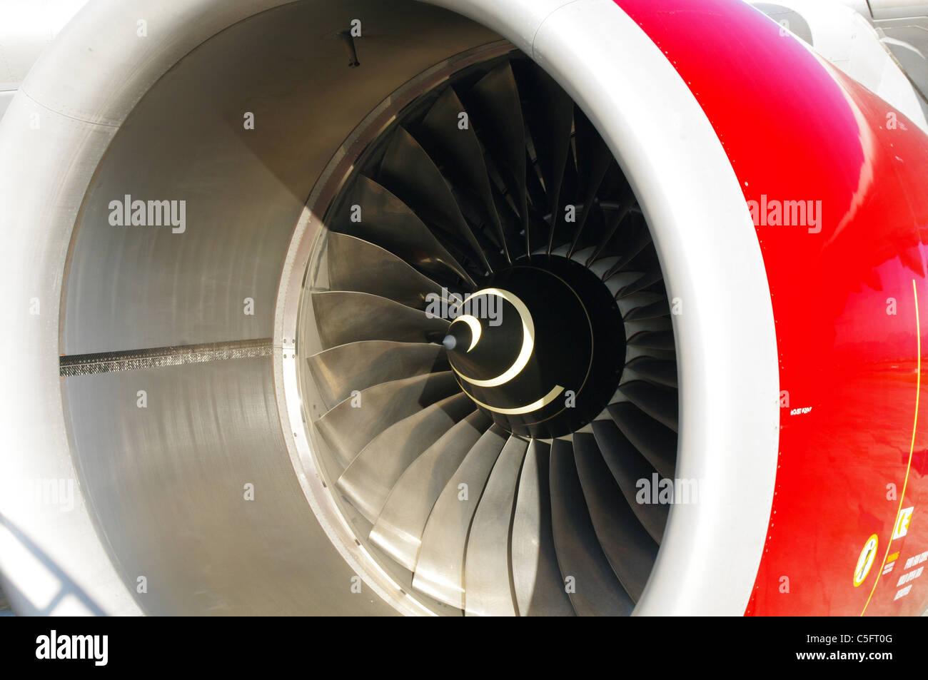 Jet engine inlet - Stock Image