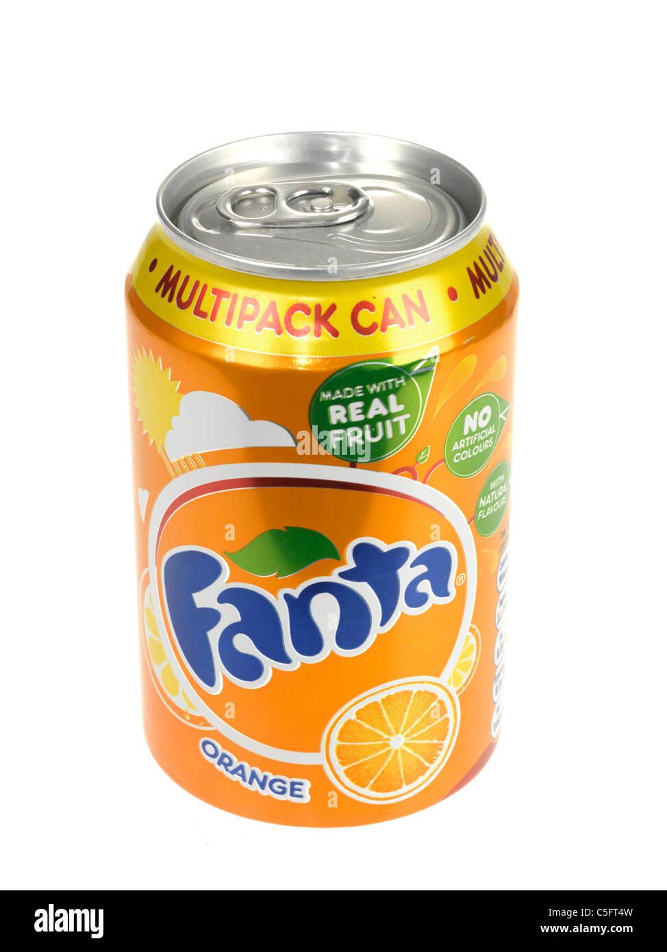 Fanta Orange Drink - Stock Image