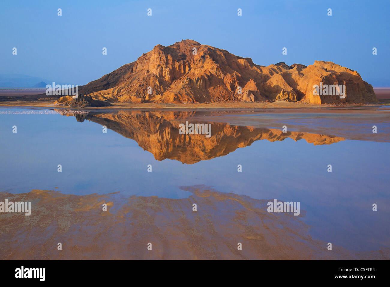 Lake logipi is a saline alkaline lake that lies in the Suguta valley in northen Kenya - Stock Image