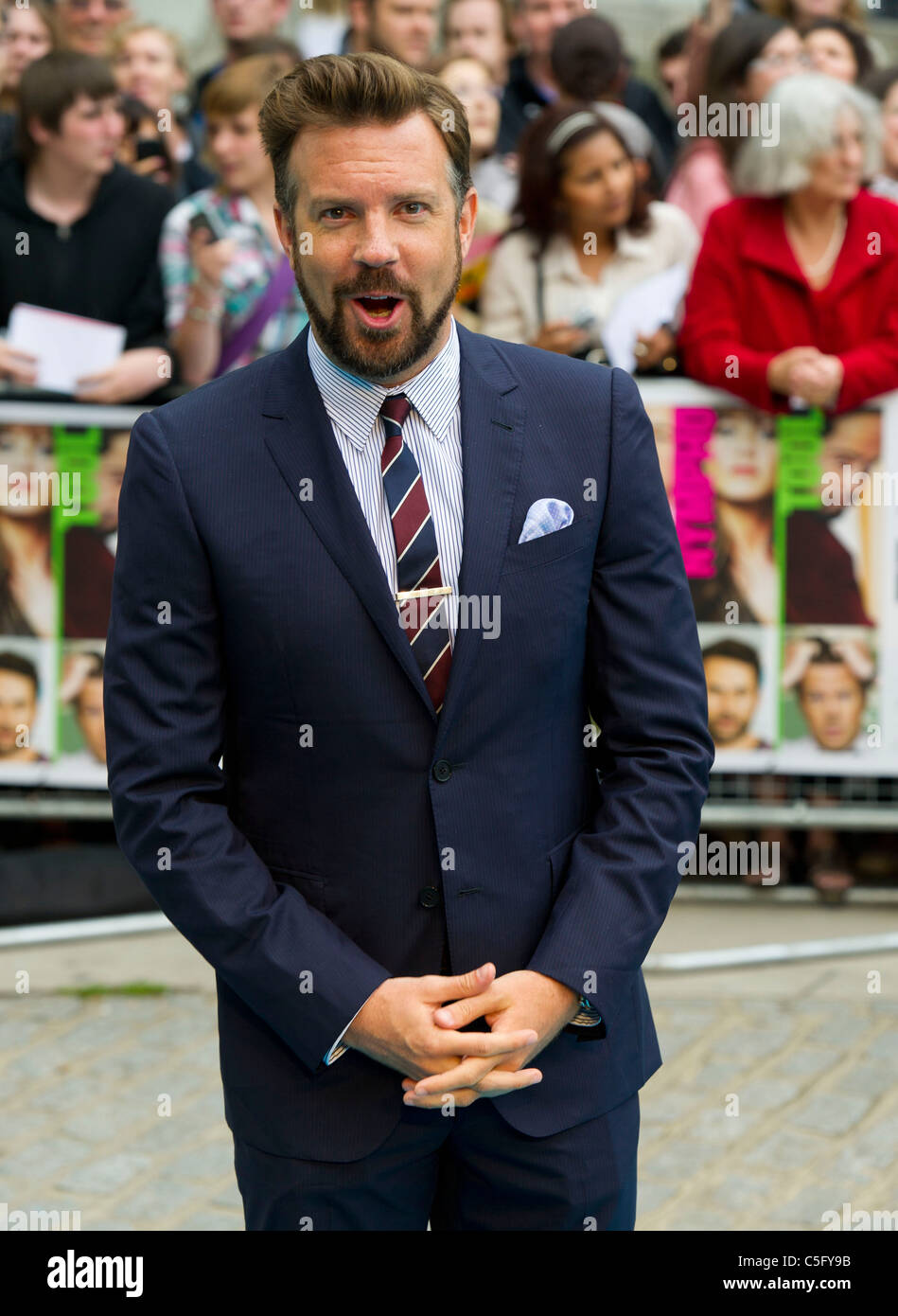 Jason Sudeikis attends the UK premiere of 'Horrible Bosses' at BFI Southbank on July 20, 2011 in London, - Stock Image