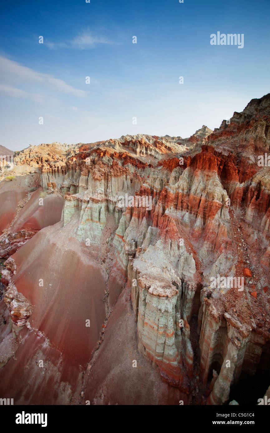 Painted valley within Suguta Valley Kenya. - Stock Image