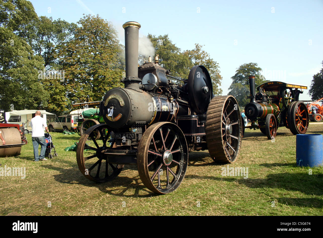 1917 Fowler R3 Road loco at YesterYear Rally 2006 at Hampton Malpas Cheshire England - Stock Image